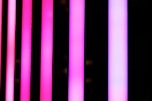 Neon pink shiny lines
