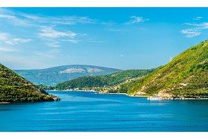 View of Kotor Bay in Montenegro