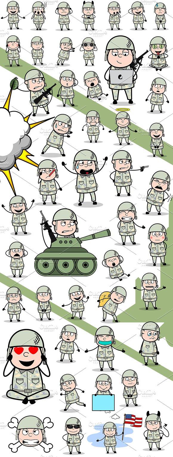 Army Man ~ Cartoon Character Set