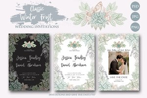Classic Winter WEDDING INVITATIONS