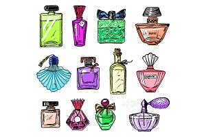 Set of Women's perfume in a