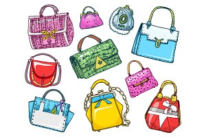 Women s bags. Vintage style
