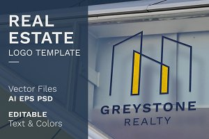 Real Estate Premade Logo Template