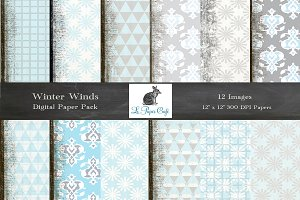 Pale Blue & Grey Pattern Backgrounds
