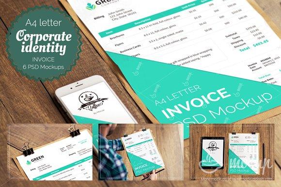 6 psd invoice mockup templates product mockups