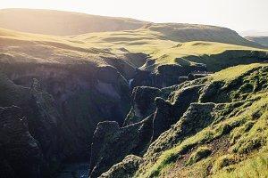 Amazing epic icelandic valley