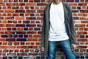 Fashionable man wear casual clothes