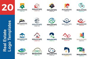 20 Logo Real Estate Templates Bundle