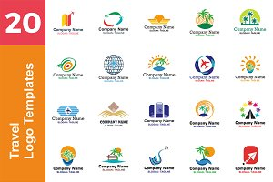 20 Logo Travel Templates Bundle