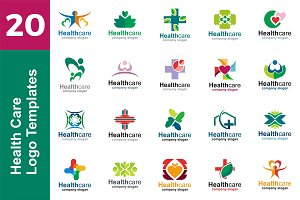 20 Logo Health Care Templates Bundle