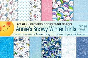 Snowy Winter Prints
