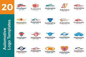 20 Logo Automotive Templates Bundle