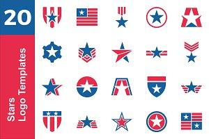 20 Logo Star Template Bundle