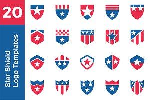 20 Logo Star Shield Template Bundle