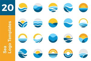 20 Logo Sea Template Bundle