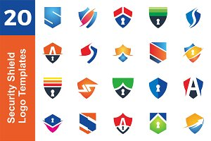20 Logo Security Shield Bundle