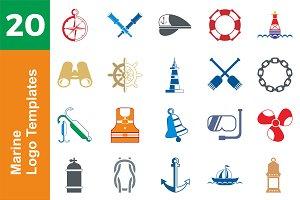 20 Logo Marine Templates Bundle