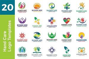 20 Logo Hand Care Templates Bundle