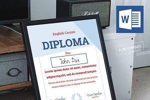 English Course Diploma Template