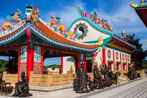 Asian chinese temple in Pattaya