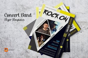 Concert Band Flyer Templates