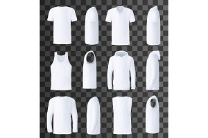 Male top clothes template and mockup