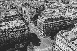 Paris Streets Black and White