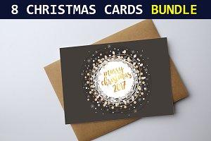 8 Christmas Cards Bundle