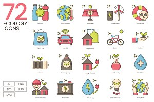 72 Green Environment & Ecology Icons