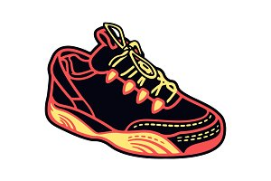 Sport Shoes, Sneakers Vector