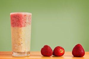 Layered Strawberry & Banana Smoothie
