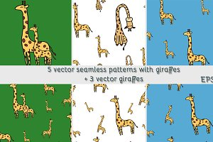 Cute vector giraffes