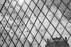 Louvre Window Black and White