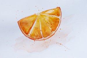 Hand drawn orange