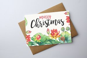 Merry Christmas Festival Card