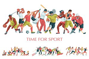 Sports vector illustrations set
