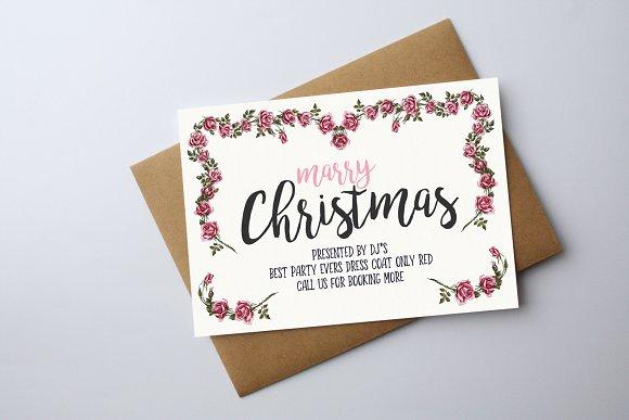 merry christmas greeting card card templates creative market