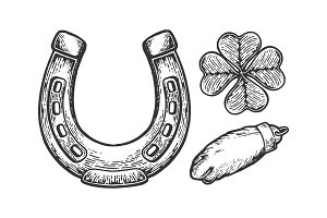 Luck talisman objects engraving