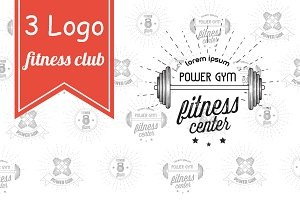 Retro logos fitness club
