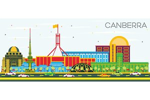 Canberra Australia City Skyline
