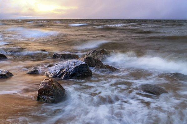 Baltic Sea in cold November