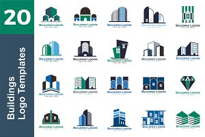 20 Logo Buildings Templates Bundle