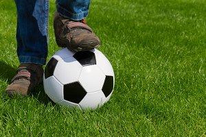 foot and football ball