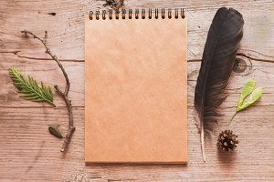 Notebook rustick artistic mockup