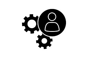 HR management glyph icon