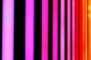 Neon pink and red shiny lines