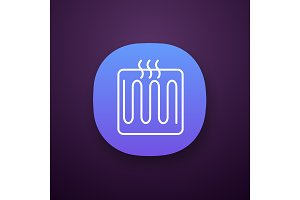 Underfloor heating element app icon