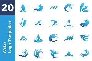20 Logo Water Template Bundle