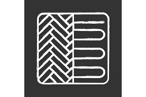 Floor heating system chalk icon