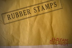 34 Vintage Rubber Stamps